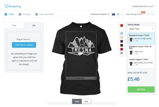 How To Sell T Shirts Online Start An Online T Shirt Store